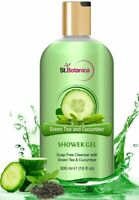 StBotanica Refreshing Green Tea and Cucumber Shower Gel (Luxury Body Wash With P