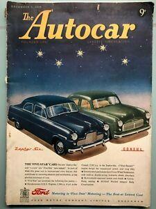 Autocar magazine - December 1950 / featuring Javelin Jupiter road test