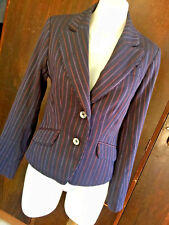 Ladies Jacket Women's Blazer Tailored EVENTS 8 XS Navy Striped 1900s 1940s Style