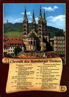 Kirchen Motiv-Postkarte Kirche Chronik des Dom BAMBERG Bayern color ungelaufen