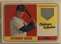 Anthony Rizzo 2018 Topps Heritage Clubhouse Collection Relic Card #CCR-ARI Cubs