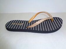 Reef Size 6 STARGAZER PRINTS Black Gold Flip Flops Sandals New Womens Shoes