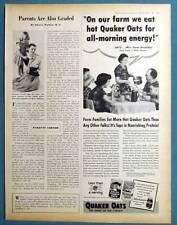 10x13 1952 Quaker Oats Magazine Ad Photo Endorse Oscar Grosfields of Willis KS