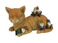 """Cody the Miniature Cat and Gnomes - """"A Relaxing Day"""" - A Fairy Garden Gnome"""