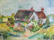 Watercolour Painting - Dorset Cottages - by Mary Pierce 1993