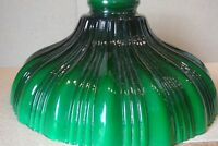 "SHADE GREEN RIBBED 9"" x 2 1/4"" FITTER LAMP REPAIR FIXTURE"