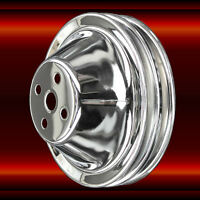Water Pump Pulley 2 Groove for Small Block Chevy 283 327 350 SWP Chrome SBC