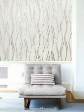 NEW Cream, Black and Silver With Glitter, Modern Design, Blown Vinyl Wallpaper