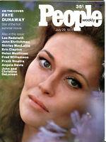 People Magazine July 29 1974 Faye Dunaway Eric Clapton EX 012116jhe