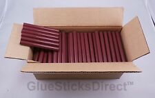 "Burgundy Faux Wax Glue Sticks 7/16"" X 4"" 5 lbs"