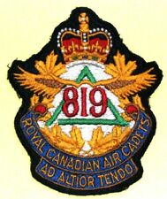 RARE Vintage Royal Canadian Air Cadets Patch - Squadron 819 Ad Altior Tendo