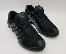 Nike Shox NZ Premium Leather Men's Running Shoes (536184-001) Black/Chrome Sz 11