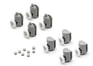 Set of 8 Single Shower Door Rollers/ Runners / Pulleys 25mm Wheels Dia L001