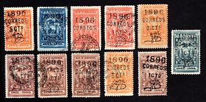 Ecuador 1896 group of stamps Mi# used/MNG/MH