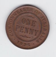 1925 Penny Coin Commonwealth Australia Shows 6 Pearls P-444