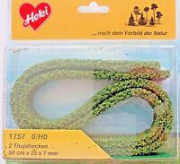 (15,30€/m) Heki 1757 Flexible Hecken, 2 Thujahecken, 25 mm hoch, je 50 cm lang