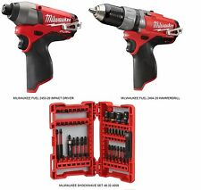 MILWAUKEE FUEL LITHIUM-ION IMPACT DRIVER 2453-20 & HAMMERDRILL 2404-20 BRAND NEW
