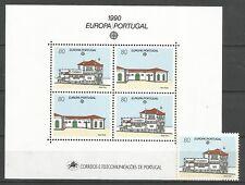 Cept / Europa   1990  Portugal Block + Marke  **
