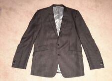 NEXT dark grey mix stripy wool suit Chest 42 long Waist 36 Leg 32