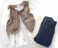 First Impressions Baby Girls 24 Mo Bunny Outfit Fuzzy Vest Pants Top Set Easter
