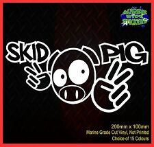 SKID PIG JDM illest Drift Hoon Stance Burn Out Funny Car Sticker Vinyl 200mm