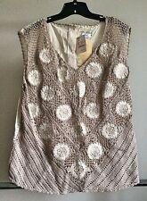 NEW International Apparel Mart Inc. womens Vintage Blouse size 3X $295 Designer