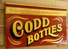 CODD beer bottle gilded sign