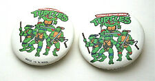 2 TMNT Teenage Mutant Ninja Turtles Comics Collectors Button Pin New NOS 1990s