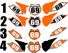 2013-2015 KTM SX85 SX 85 Number Plates Side Panels Graphics Decal