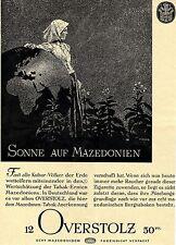 OVERSTOLZ ZIGARETTEN * Echt Mazedonisch * Historische Reklame von 1938