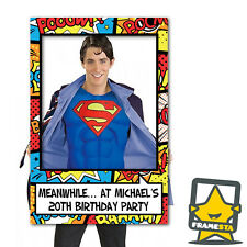 Custom Printed Super Hero Frame Photo Booth Props (60 x 90 cm) Instagram Frame