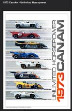 1973 Can-Am Unlimited Horsepower 1st on Ebay Car Poster Own It! Free Shipping!