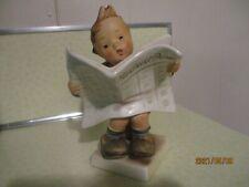 Goebel Hummel Figurine Latest News 184 Munchener Tmk2 Full Bee Boy w Newspaper