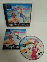 PLAYSTATION 1 - PS1 Barbie Super Sports Game Complete Sony Run Craft 1999 Mattel
