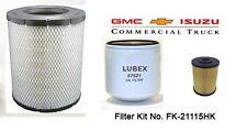 ISUZU FILTERS   GMC, CHEVY NPR,NQR,W3500,W4500,W5500 FILTER KIT NO. FK-21115HK