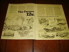 FERRARI V-12 - FLAT 12 ***ORIGINAL 1985 ARTICLE***