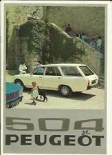 PEUGEOT 504 ESTATE GL, L  AND FAMILY ESTATE SALES BROCHURE 1976