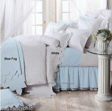 Queen Quilt Bed 3 Piece Set Coastal Ocean Blue Shabby Chic Coverlet Bedspread