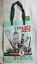 Trader Joes Boston Shopping Grocery Eco Green Tote Bag Reusable Brand New