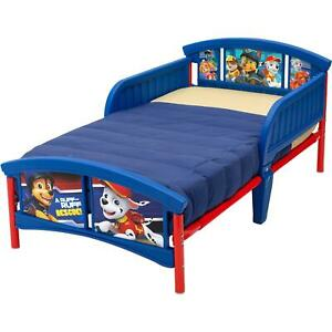 Toddler Bed For Boys Girls With Guard Rails Kids Children Paw Patrol New