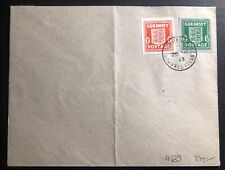 1942 Guernsey England Blue banknote paper N4 Cover Unaddressed