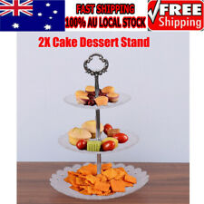 2X 3 Tier Cake Cupcake Plate Stand Tri-layer Birthday Wedding Party Food Holder