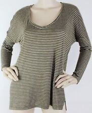 Linen Long Sleeve Hand-wash Only Striped Tops & Blouses for Women