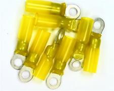 50 x TE DuraSeal Yellow Tin Plated Crimp Ring Terminal, 5mm Stud,  3mm² to 6mm²