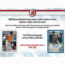 ATLANTA BRAVES 2020 BOWMAN BASEBALL JUMBO 4 BOX HALF CASE BREAK #6