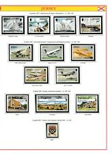 s35016 JERSEY 1987 MNH Complete year set Annata completa 3 scans