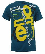 Sonneti Vibration Mens Cotton DESIGNER Casual T-shirt Top S - XL L Ocean Depth