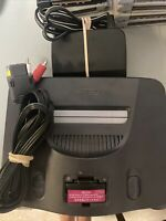 Nintendo 64 Console & Cords N64 Power Cable Jumper Cable Works Authentic