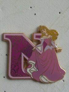 DISNEY PIN....WDW framed Princess Letters... AURORA.