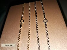 Bellissimo bracciale braccialetto funetta corda UNISEX cm 19 oro 750 18 kt Nuovi
